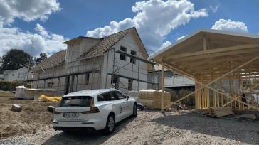 Nybyggnation av villa i Borås