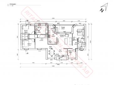 Bygglovsritningar för projektet i Hjärtum